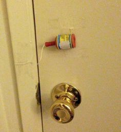 Affix a party popper to your kid's bedroom door.