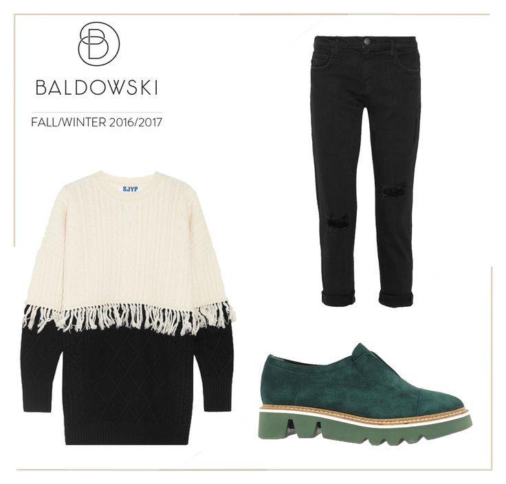 Get inspired with Baldowski #fashion #baldowski #fallwinter #inspiration #shoes # green #knitwear #jumper #cozy #jeans #ripped #jeans  http://baldowski.pl/botki/baldowski/d018300213001/p-1228.html