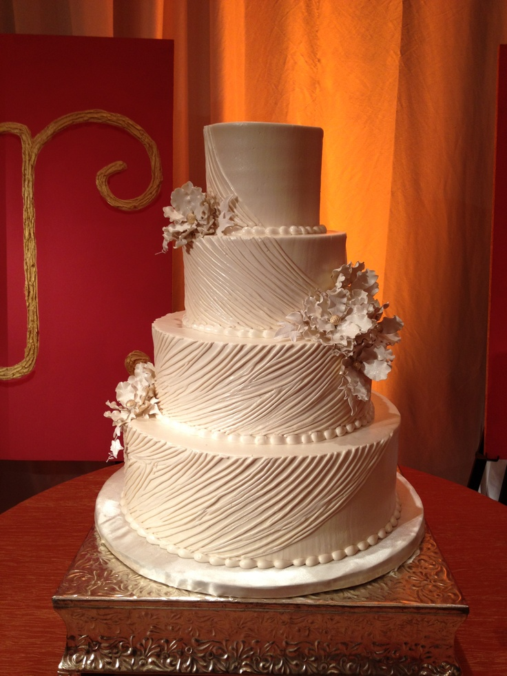 Brides Cake Buttercream Ruching By Frosted Art Wedding