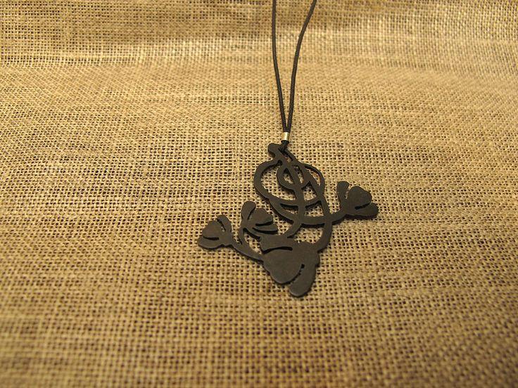 Art deco necklace, Colgante Art Deco, Colgante de latón, Flower necklace, Colgante corto, Dainty necklace, Regalo para ella, Joyeria vintage de LaBEJoyeria en Etsy