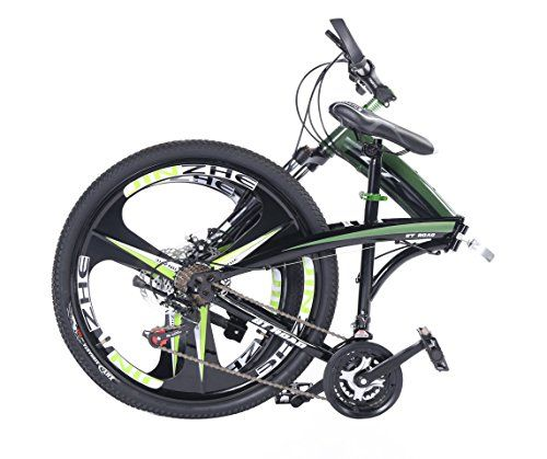 MTB Folding Mountain Bike 26″  24 Speed Bicycle Lightweight & Portable with Magnesium Alloy 6 Spokes Integrated Wheel for Men & Women (Green) http://coolbike.us/product/mtb-folding-mountain-bike-26%e2%80%b3-24-speed-bicycle-lightweight-portable-with-magnesium-alloy-6-spokes-integrated-wheel-for-men-women-green/