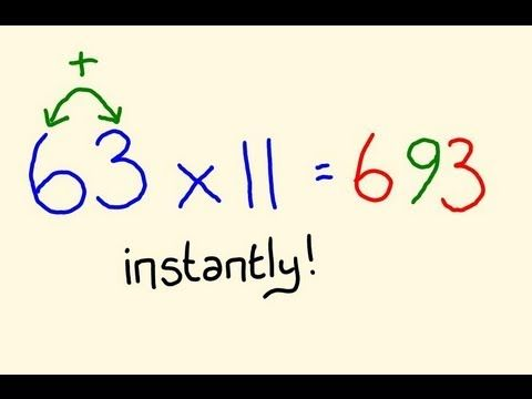 Fast Mental Math Tricks - Multiply any two digit by 11 instantly!