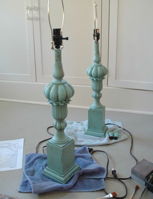 AFTER. How to Paint Lamps & Other Things That Arent Working for You. Walnut stain used to age.