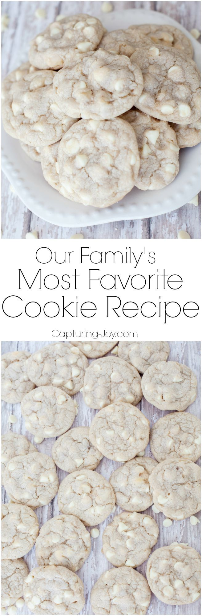 Our Family's Most Favorite Cookie Recipe, use any variety of chips, it's the base that is so tasty and unique!