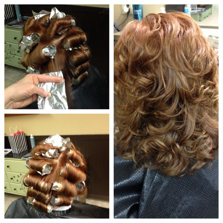 Aluminum foil curls | Hair Essentials | Pinterest