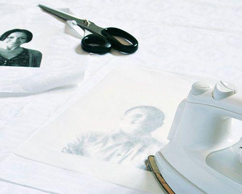 Brigitte basteln- Fotos auf Transferfolie bügeln