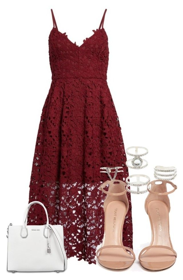 """Untitled #644"" by strangebirdd ❤ liked on Polyvore featuring Astr, Charlotte Russe, Stuart Weitzman and MICHAEL Michael Kors"