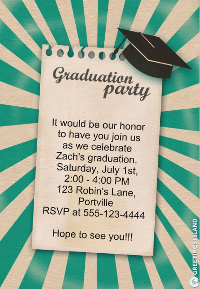 Save money with these free printable graduation invitations printable graduation party for Graduation announcements pinterest