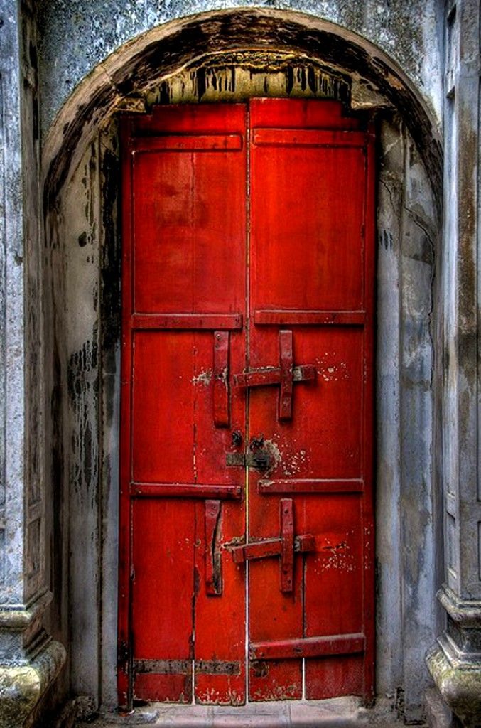 something about a red door...