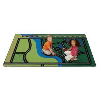 road  map transportation rug