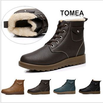 2013 New Arrival Fashion Men Boots  With Fur Waterproof Winter Warm Shoes Free Shipping 4 colors size 39-43 XMX040 $38.99