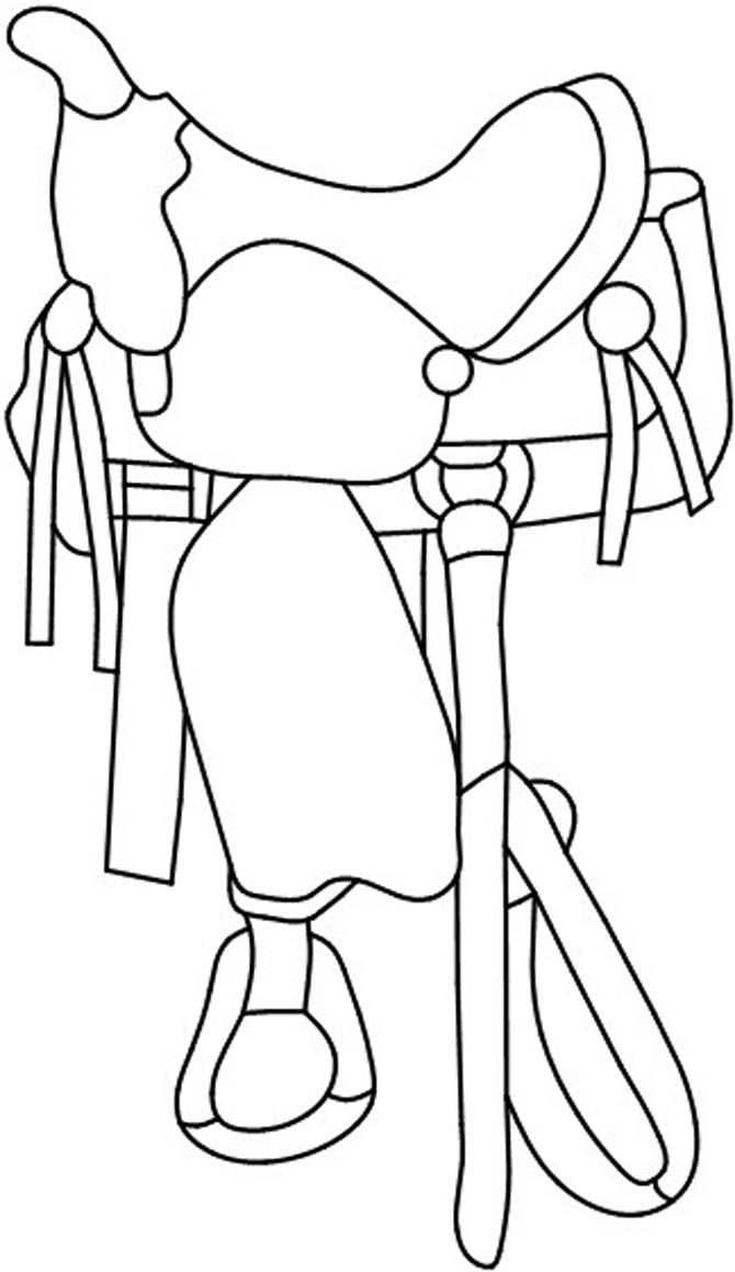 Western Saddle Coloring Pages