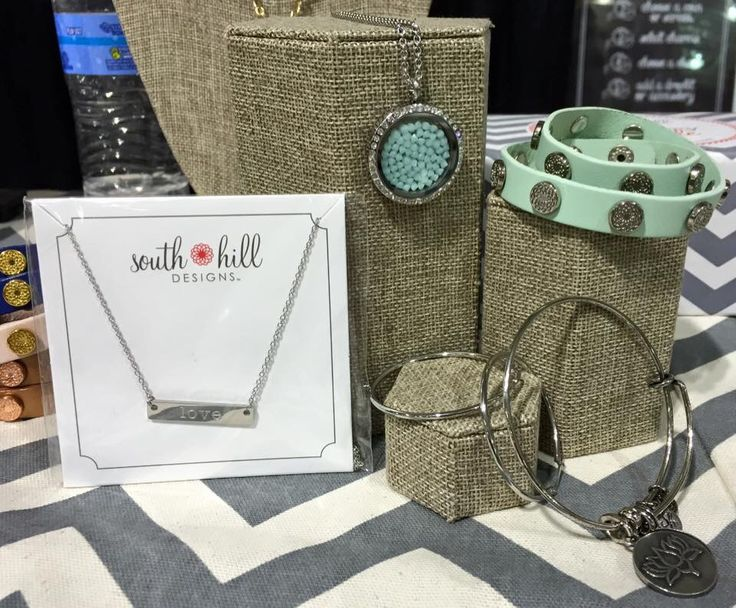 South Hill Designs Mint and Silver Jewelry Bangle, Locket, Wrap, Bar Necklace, Embellishment