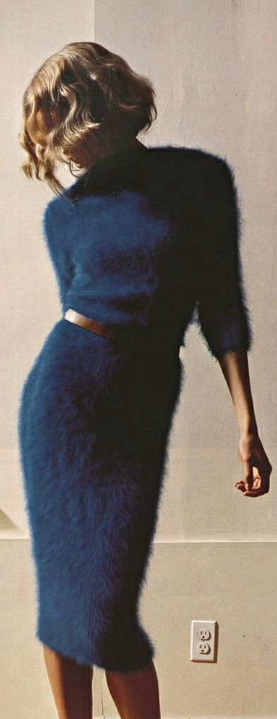 Sweater Dress of Furry Angora                                                                                                                                                                                 More