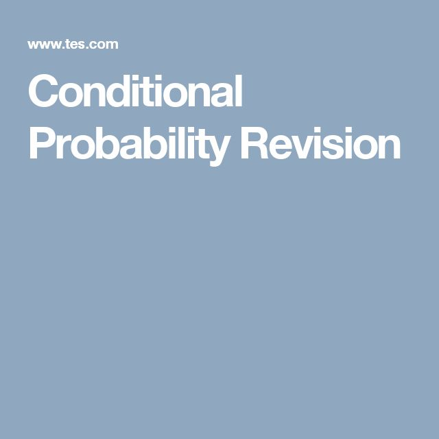 Conditional Probability Revision