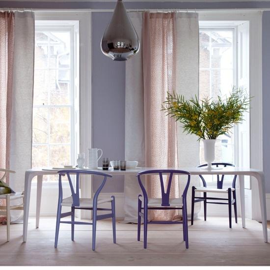 Modern Pastel Dining Room