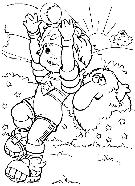 38 best Rainbow Brite Coloring Pages images on Pinterest Adult