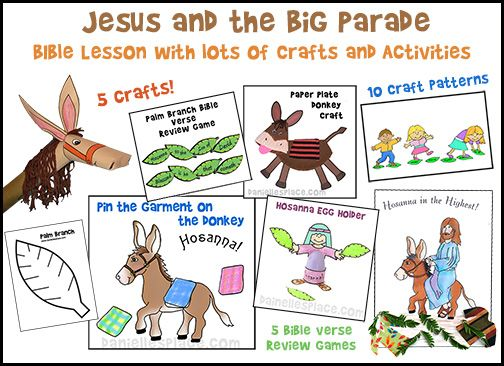 Palm Sunday Crafts And Games For Sunday School And