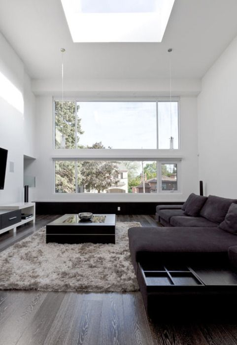 We have 3 of these and they are fab !: Modern Living Rooms, Idea, Open Spaces, Livingroom, Interiors Design, Sky Lights, House, Skylight, White Wall