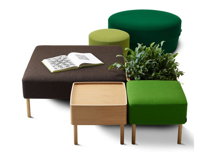 Swedish design brand Swedese has launched a set of square seating modules based on open-faced sandwiches