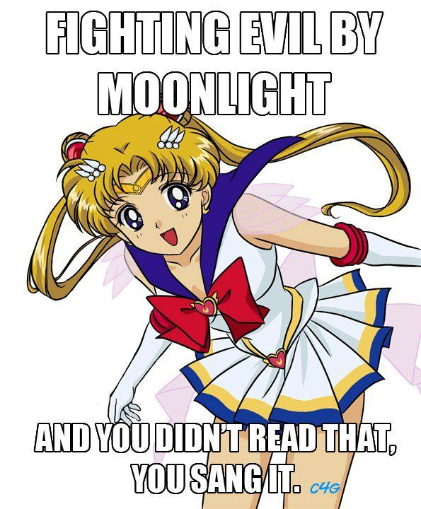 Winning love by daylight...never running from a real fight she is the one named Sailor Moon :) your damn right I sang that