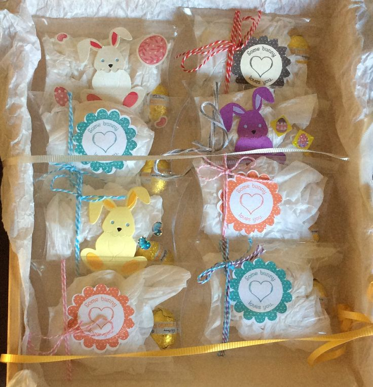 These are my Easter Pillow Boxes that I made.  Each one contains 1 egg.