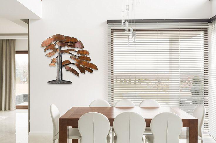 Stravagante scultura da parete in metallo KunstLoft® 'Bonsai con ruggine' 97x88x7cm | Decorazione parete XXL design fatta a mano | Albero bonsai e rame | Quadro di metallo lussuoso plastico murale: Amazon.it: Casa e cucina