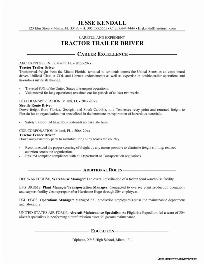 Truck Driver Resume Sample Awesome Delivery Order Invoice Template Templates Resume Resume Resume Examples Resume Template Australia