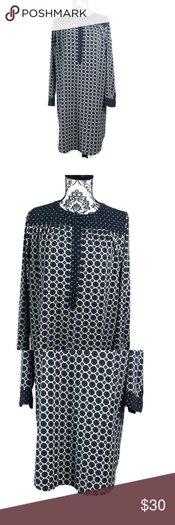 LOFT Geometric Print Dress Ann Taylor LOFT geometric print dress  Size Small  ME…