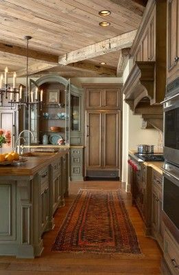 Rustic Kitchens in Mountain Homes-22-1 Kindesign