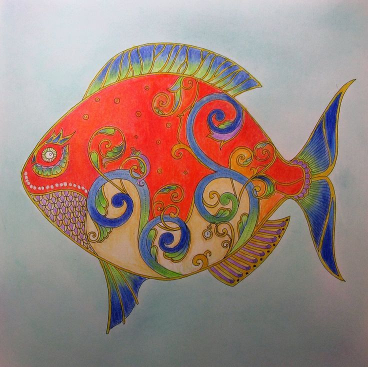 Done With Pencils Pastels And Gel Pens Find This Pin More On Lost Oceans Johanna Basford Coloring Book