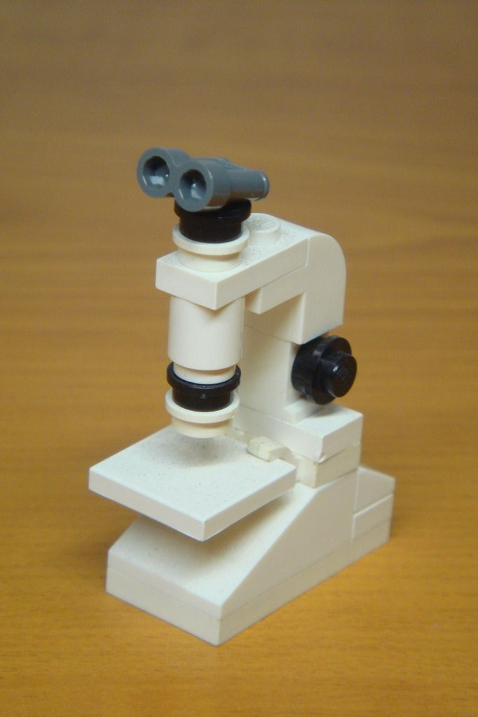 When i study in medical college, I have a white ZEISS microscope. Althogth my pathalogy was down by my professonal. I stll like my microscope. But i am graduated for 9 year and be a father. So i must sell it to buy more LEGO brick for my child, in fact, these brick are for me. :)