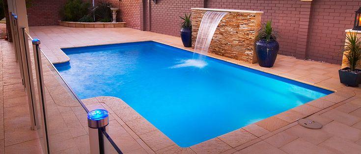 Imperial - 7m x 4m, 1.0m - 1.7m depth. http://www.sapphirepools.com.au/swimming-pools/imperial/