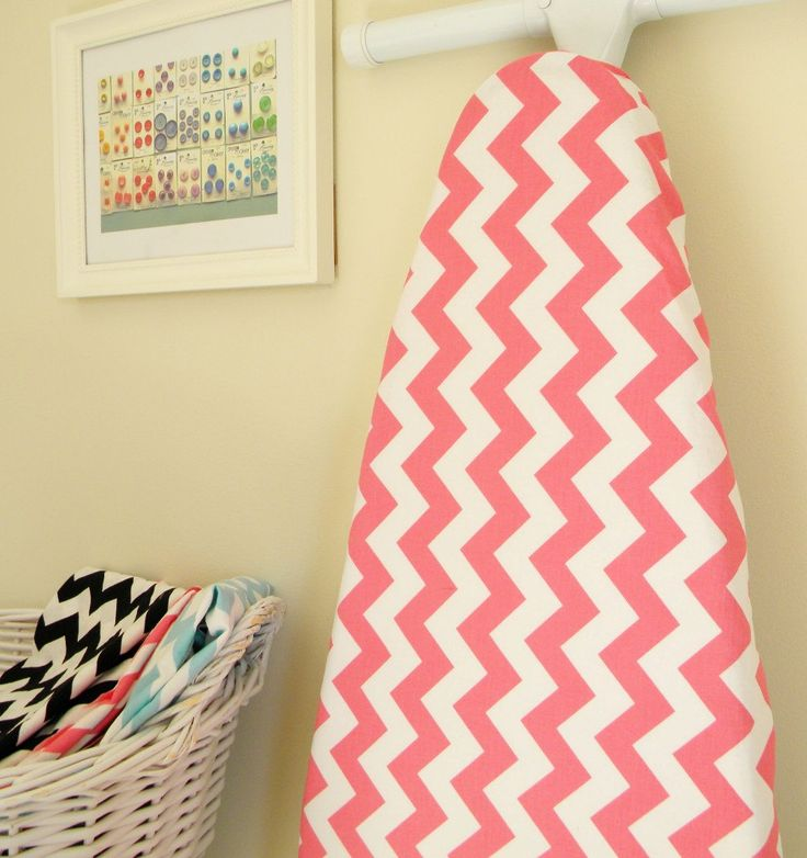 Ironing Board Cover - Hot Pink and White Chevron - Riley Blake. $24.00, via Etsy.