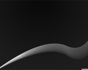 Free black PowerPoint template with curved lines