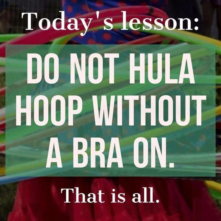 Hula hoop with out a bra on