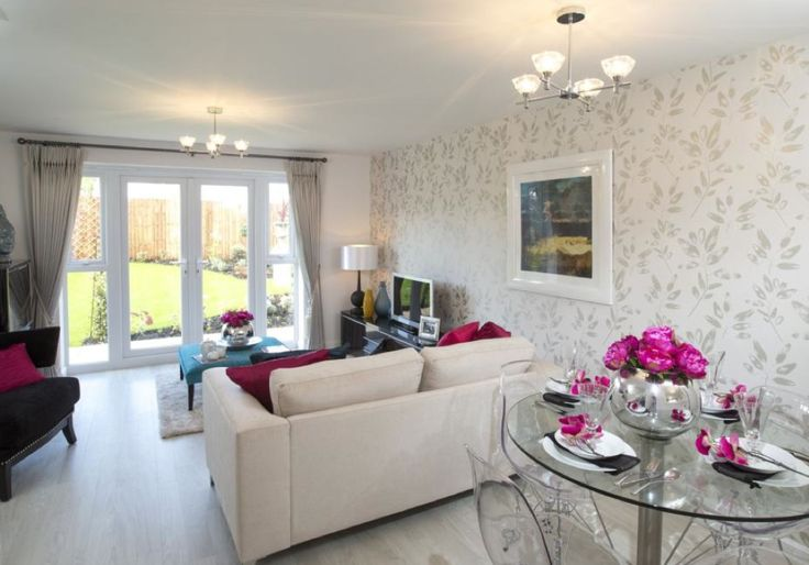 Barratt Homes Orchard Place Evesham Interior Designed Living Dining Room At Last White Ash Floor Boards In Modern Show Homes