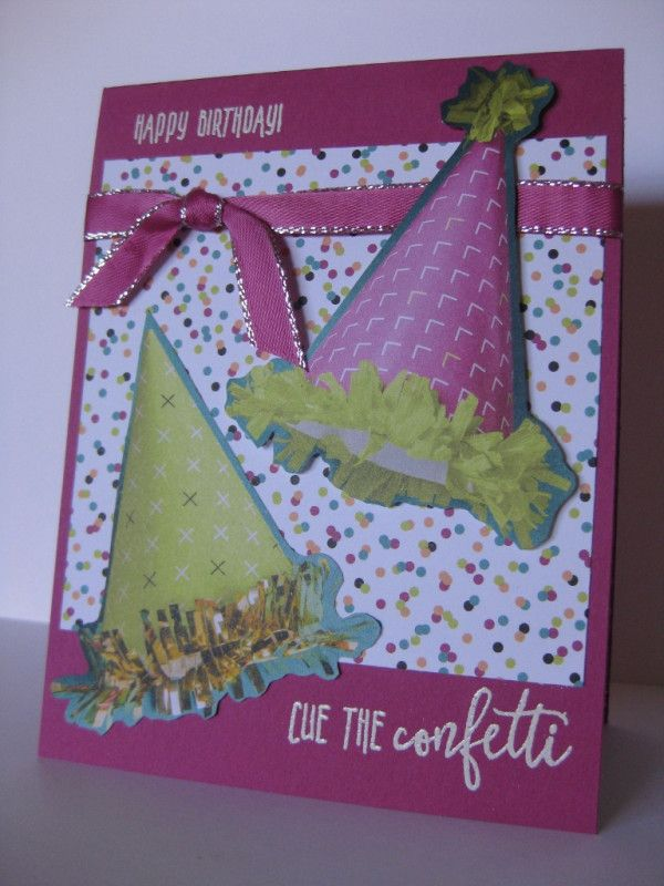 Barb Mann Stampin' Up! Demonstrator - SU - Too Easy Party Hat Birthday Card - Picture Perfect Birthday - CAS - EASY!