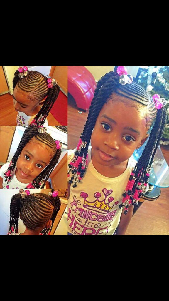 Such a beautiful natural hairstyle for a little girl.