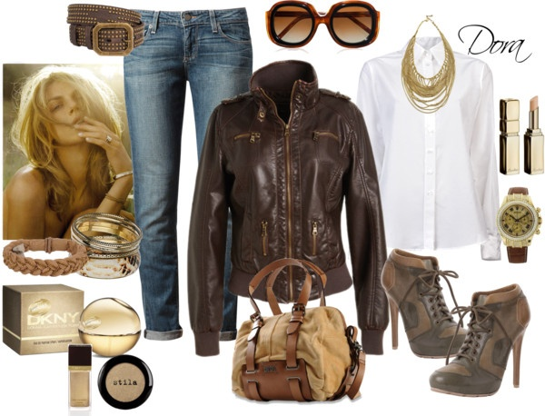 """bomber di pelle"" by doradabrowska on Polyvore"