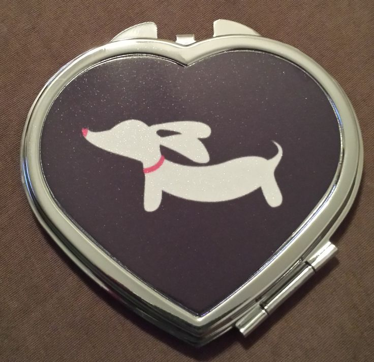 Mirror Compact | Dachshund Silhouette by The Smoothe Store