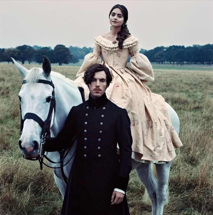 Full version of the photo of Tom Hughes and Jenna Coleman from January Vogue US.