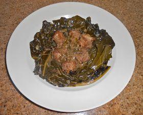 Chef JD's Food and Recipe Blog: Collard Greens and Turkey Neck Bones with Pot Liquor! Soul Food!