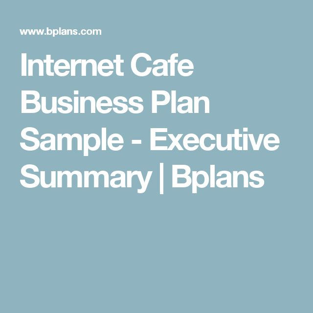 internet cafe business plan introduction sample