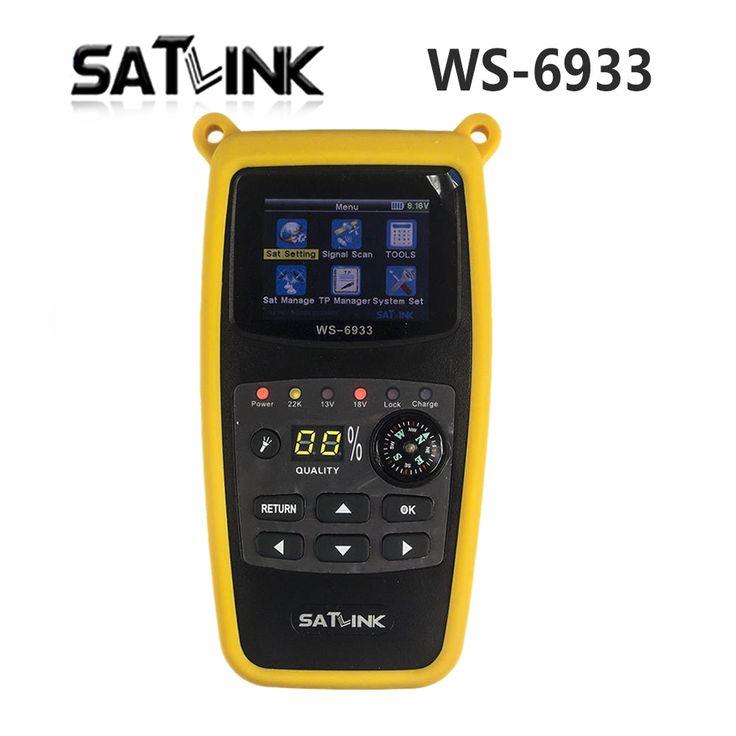 オリジナルsatlink WS-6933 2.1インチ液晶ディスプレイdvb-s2 fta c & kuバンド6933 WS6933デジタル衛星ファインダーメーター送料無料