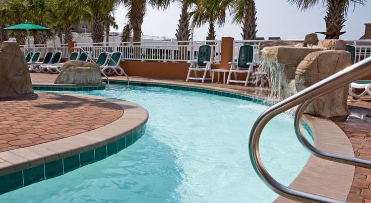 Holiday Inn & Suites North Beach Hotel Virginia Beach With direct access to the beach and boardwalk, this Virginia Beach oceanfront hotel offers 3 outdoor pools and an indoor pool with lazy a river.  Free Wi-Fi is available.