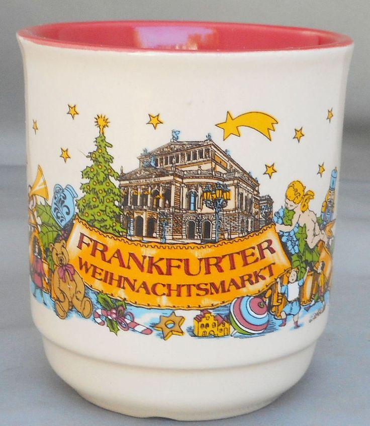 Frankfurt Christmas Market Mug Cup 6 oz. Frankfurter Weihnachtsmarkt Germany #MohabaGmbHCoKGDrenGermany