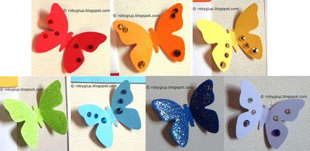 Il mio matrimonio handmade: dettaglio del tableau mariage con un arcobaleno di farfalle - My handmade wedding : detail of the tableau mariage with a rainbow of butterflies