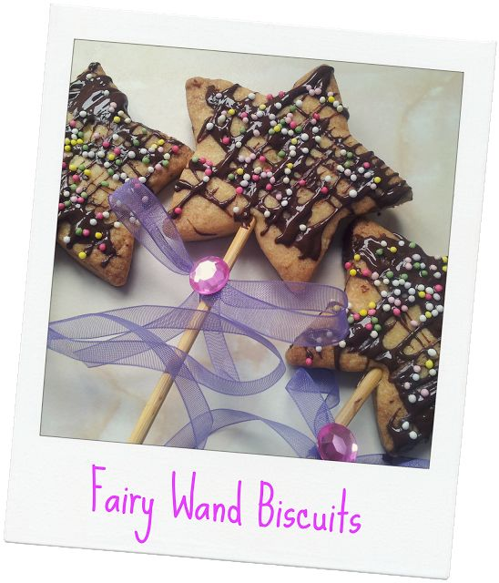 Fairy Wand Biscuits #recipe #fairy #food #biscuits #stars #party #kids