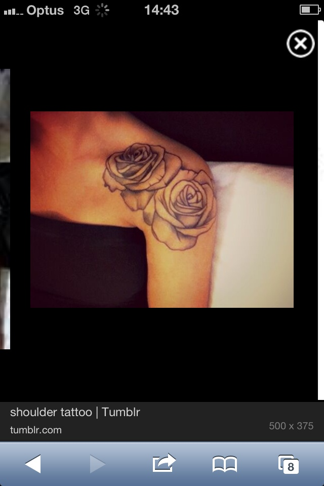 Rose shoulder tattoos - I feel like I have pinned this one before...